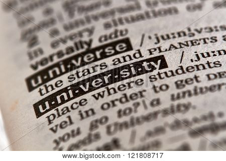 University Word Definition Text