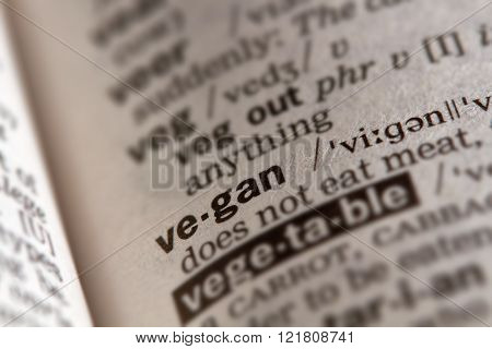 Vegan Word Definition Text