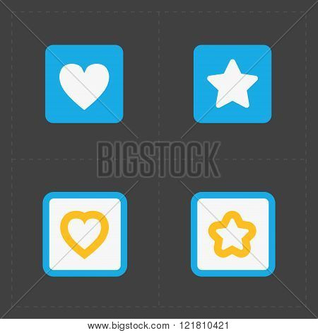 Star and Heart icons