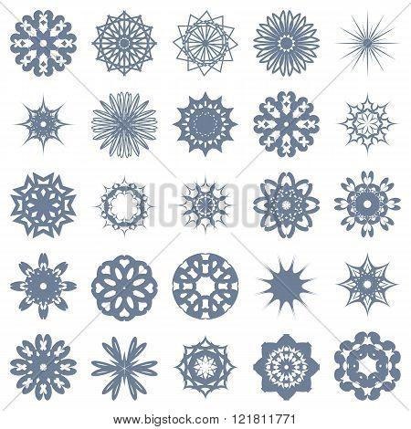 Set Of Symmetric One-color Patterns.