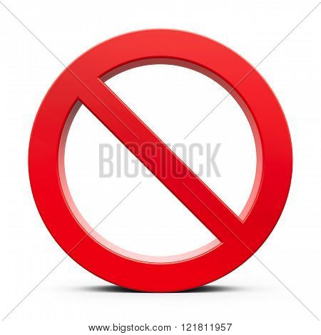 Red No Sign