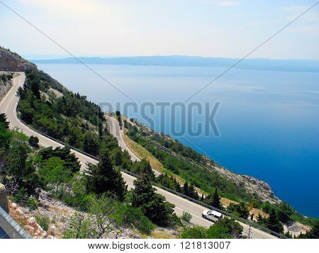 The Road-serpentine In Croatia.