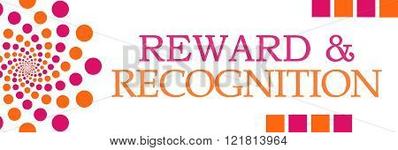 Reward Recognition Pink Orange Dots Horizontal