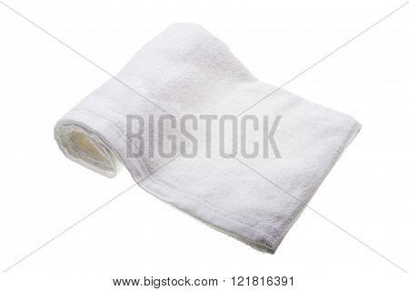 white soft hand towel