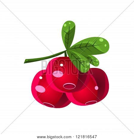 Cranberry Black Currant  Flat Vector Sticker