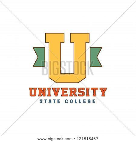 Big U Letter Logo