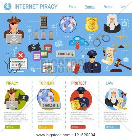 Internet Piracy Concept