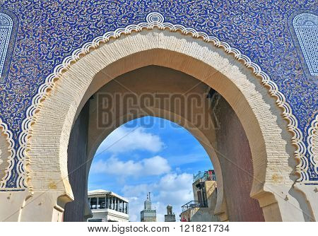 View of the Blue gate, Fes, Morocco poster