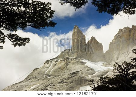 torres del paine towers in patagonia