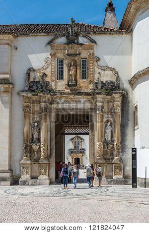 Coimbra's University Courtyard - Coimbra, Portugal