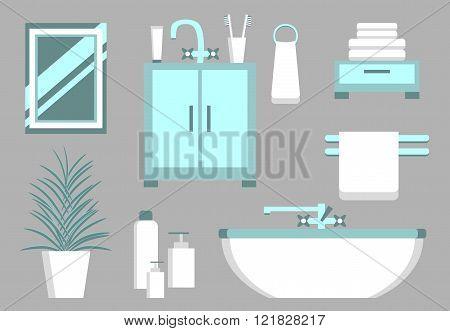 Bathroom Flat Elements