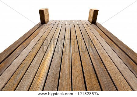 Wooden Bridge Isolated