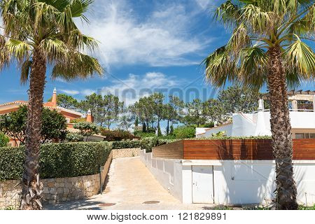Houses and buildings in Wolf Valley (Vale do Lobo), Algarve