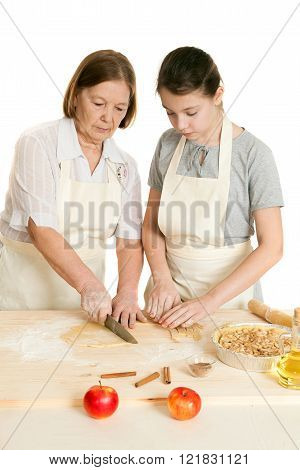 The Grandmother And The Granddaughter Knife Dough