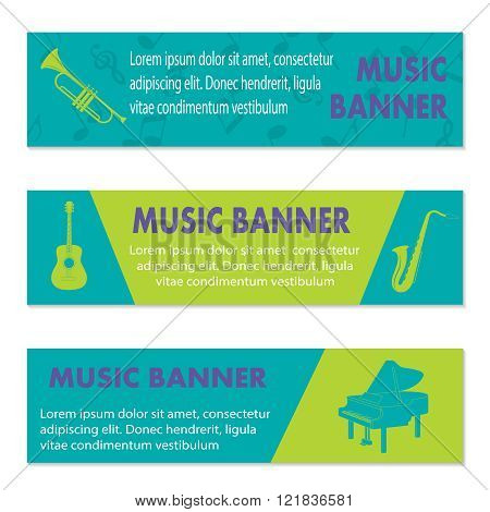 Advertising musical banners