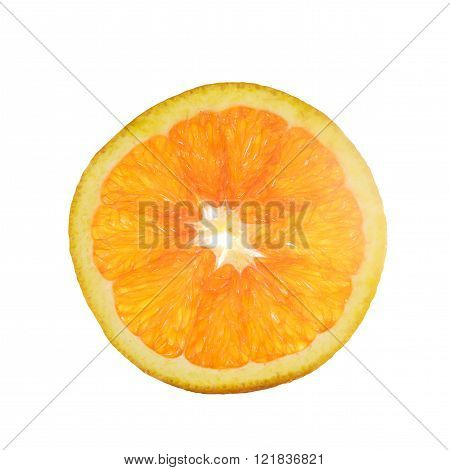 Orange Cut Isolated On White