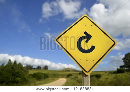 Start Again New Life Reload Concept Icon Road Sign