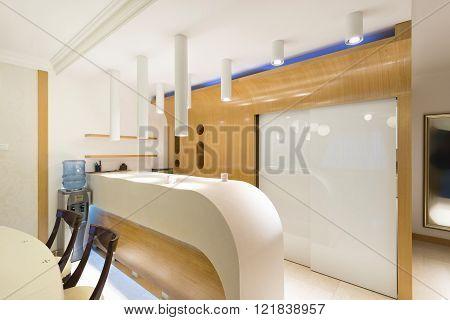 Modern Counter In Luxury Kitchen Interior