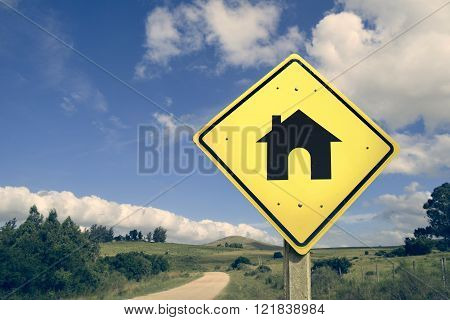 Buy First House Family Dream Road Icon Sign