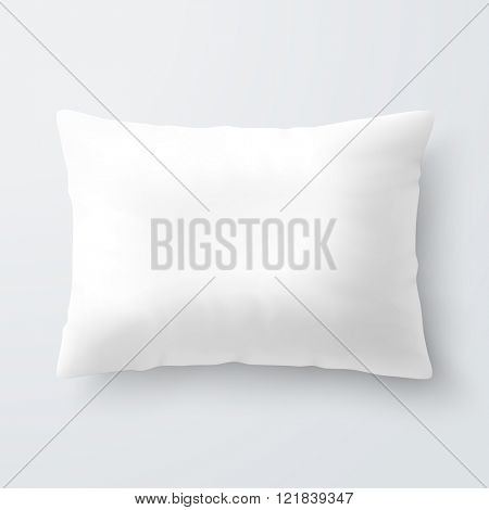 Blank white rectangular pillow / cushion vector illustration