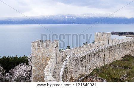 Tsar Samuel's fortress, located in Ohrid, Macedonia poster