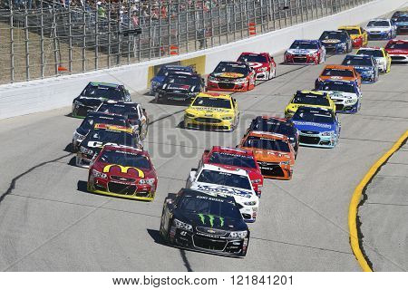 Hampton, GA - Feb 28, 2016: Kurt Busch (41) battles for position during the Folds of Honor QuikTrip 500 at the Atlanta Motor Speedway in Hampton, GA.