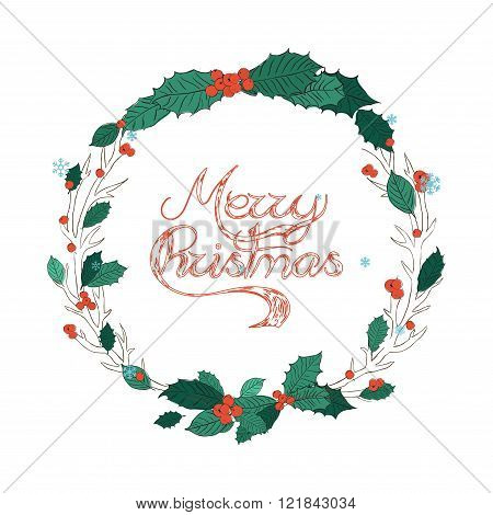 Christmas Greeting Card. Vector Typography.