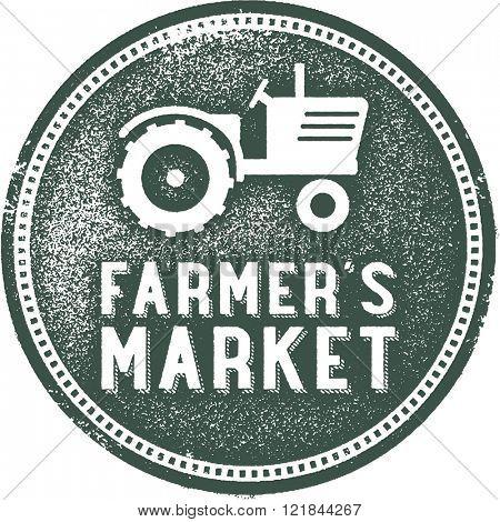 Farmer's Market Vintage Rubber Stamp