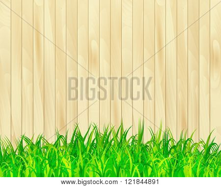 Garden Fence Vector Background