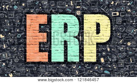 ERP on Dark Brick Wall.