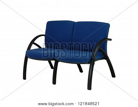 double office chair in white background