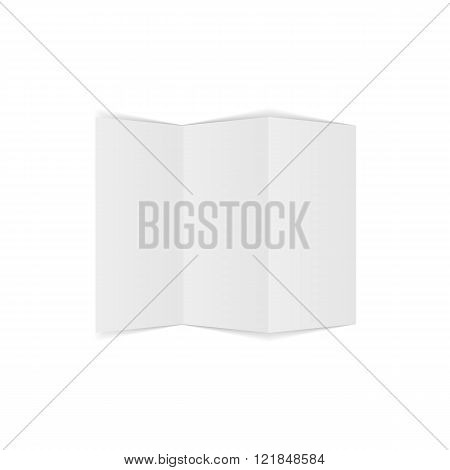 Trifold empty Paper Page Template