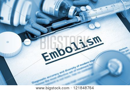 Embolism Diagnosis. Medical Concept.