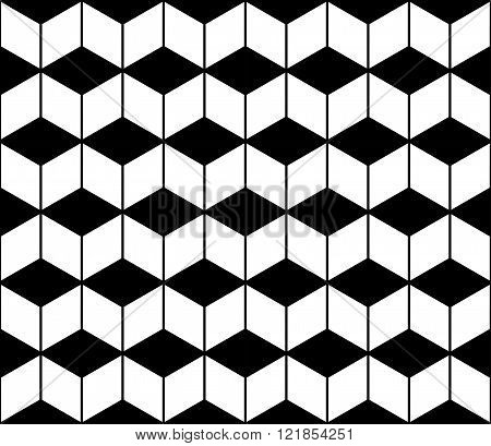 Vector modern seamless geometry pattern chevron black and white abstract