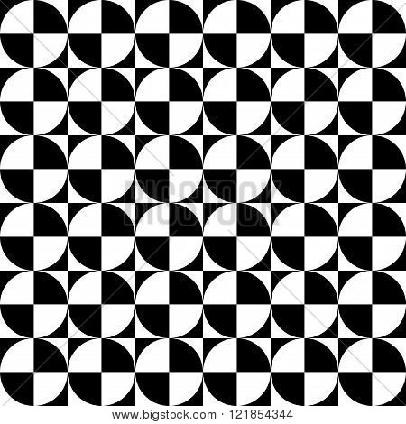 Vector modern seamless geometry pattern checkered black and white abstract