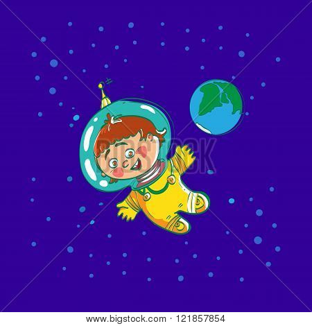 Space child cartoon