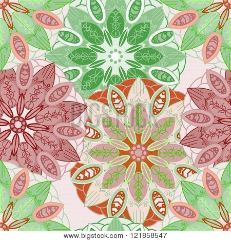 Seamless Background. Vintage Decorative Elements. Hand-drawn Background. Islam, Arabic, Indian, Otto