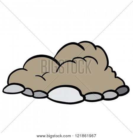 freehand drawn cartoon illustration of  pile of dirt