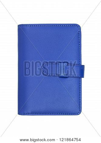 Blue Notebook Isolated On White