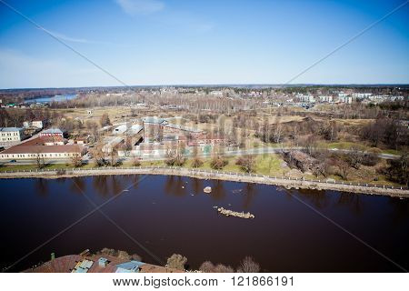 view of the Vyborg with altitude