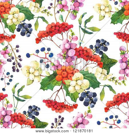 Seamless floral pattern with flowers on a white background.
