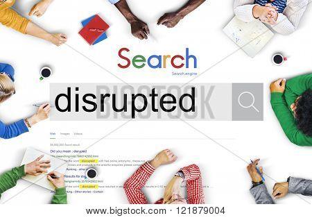 Disrupted Destroy Damage Confusion Alter Problem Concept