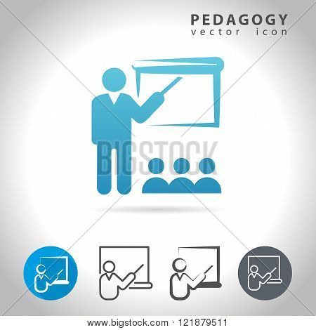 Pedagogy icon set, collection of education icons, vector illustration
