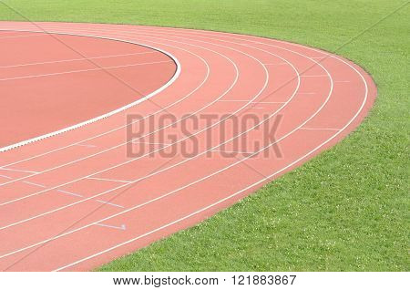 Running track and field  athletics sport area detail