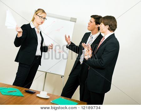 Business Team dissenting