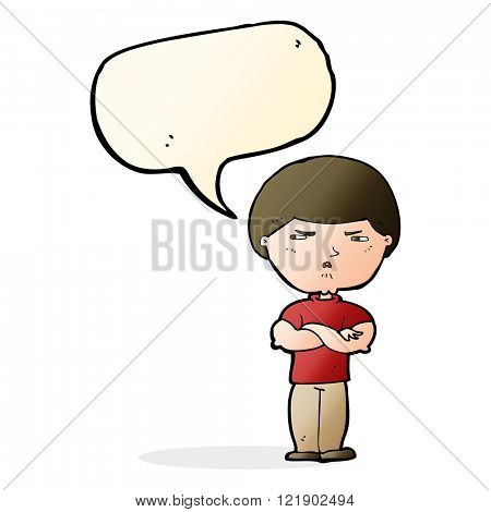 cartoon grumpy man with speech bubble