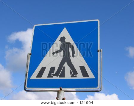 A Pedestrian Crossover Sign