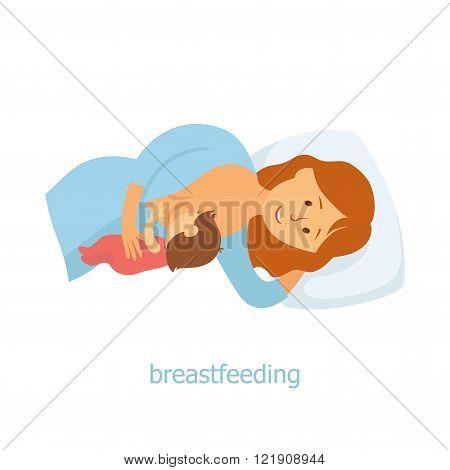 Lying breastfeeding position