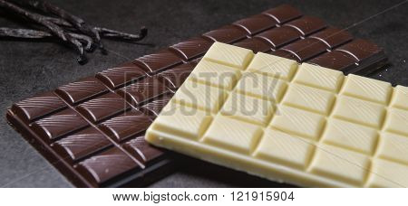 Chocolate bar, closeup, studio shoot, dessert, Food