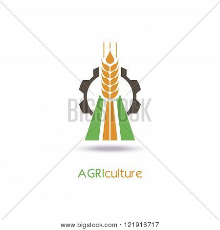 Agriculture Logo Template Design. Icon, Sign or Symbol.